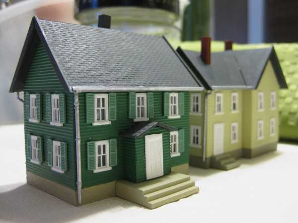 Two Houses for Model Railroad
