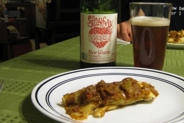 Eggplant-Almond Enchiladas