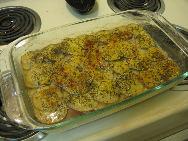 Herb-Scalloped Potatoes (Veganomicon)