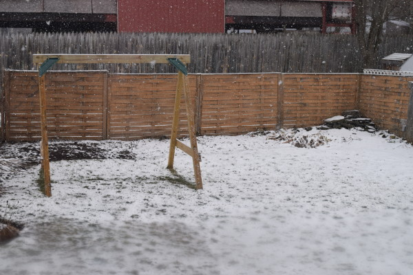 Snow while planting
